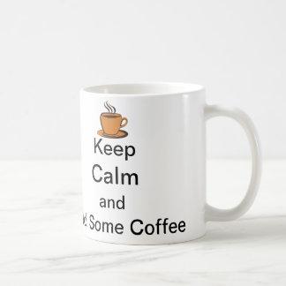 Keep Calm and Add Some Coffee Classic White Coffee Mug