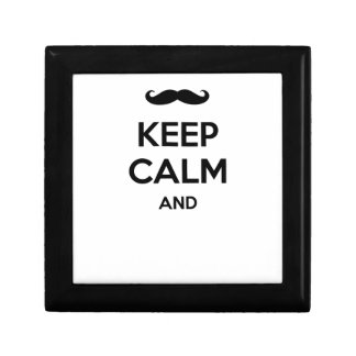 Keep calm and ... add your moustache text here! gift box