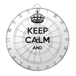 Keep calm and ... add your own text here! dartboard with darts