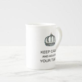 """""""KEEP CALM AND ADJUST YOUR TIARA"""" TEA CUP"""
