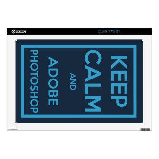 Keep Calm and Adobe Photoshop Laptop Skin