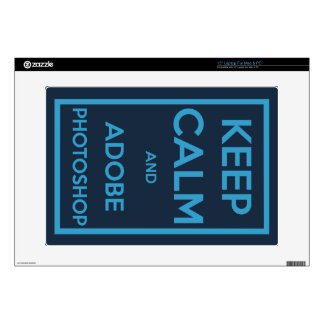 """Keep Calm and Adobe Photoshop Skin For 15"""" Laptop"""