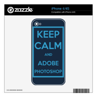 Keep Calm and Adobe Photoshop Skin For The iPhone 4
