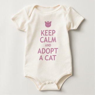 Keep Calm and Adopt A Cat Baby Bodysuit