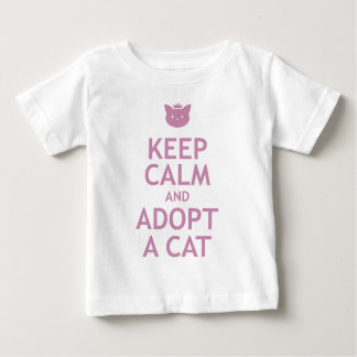 Keep Calm and Adopt A Cat Baby T-Shirt