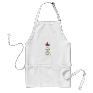 Keep Calm and Adopt a Child Aprons