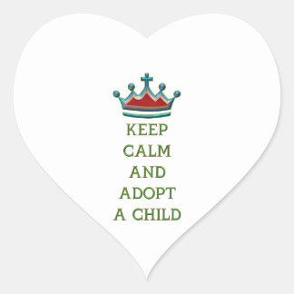 Keep Calm and Adopt a Child Heart Sticker