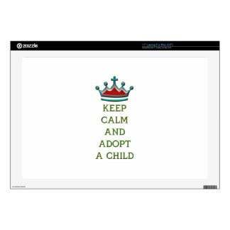 Keep Calm and Adopt a Child Laptop Decals
