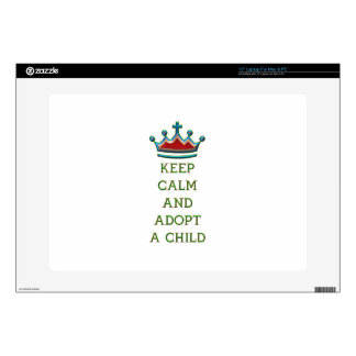 """Keep Calm and Adopt a Child 15"""" Laptop Decals"""
