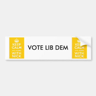 Keep Calm And Agree With Nick ~ Political U.K Bumper Sticker