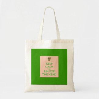 Keep Calm and Aim for the Head Bag