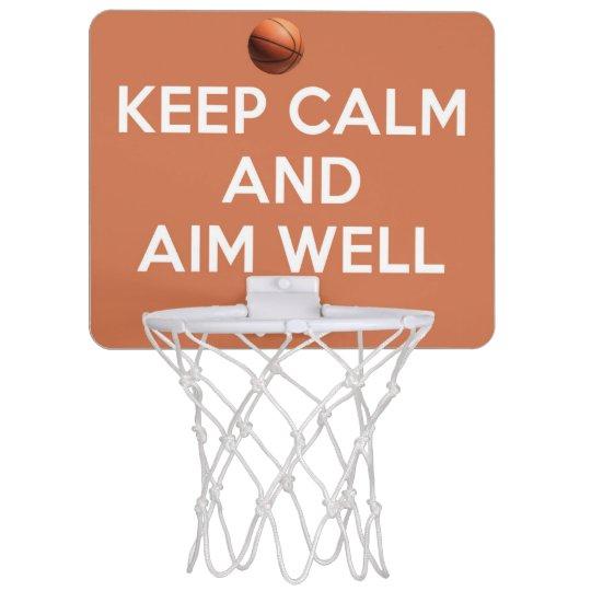 Keep Calm And Aim Well! Mini Basketball Backboard