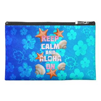 Keep Calm And Aloha On Travel Accessory Bag