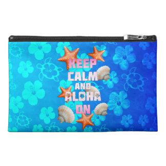 Keep Calm And Aloha On Travel Accessories Bag