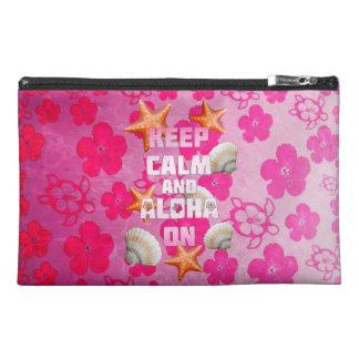 Keep Calm And Aloha On Travel Accessory Bags