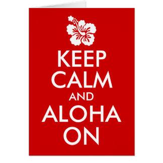 Keep Calm and Aloha On Hibiscus Card