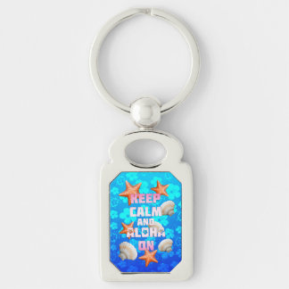 Keep Calm And Aloha On Keychain
