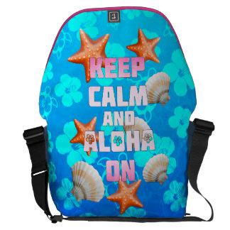 Keep Calm And Aloha On Courier Bag