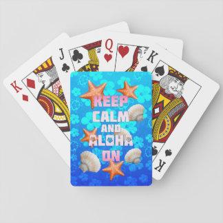 Keep Calm And Aloha On Playing Cards