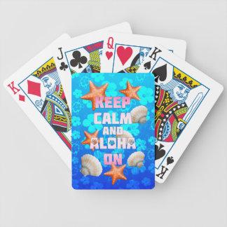 Keep Calm And Aloha On Bicycle Card Deck