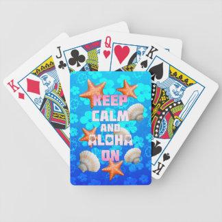 Keep Calm And Aloha On Deck Of Cards