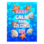 Keep Calm And Aloha On Postcards