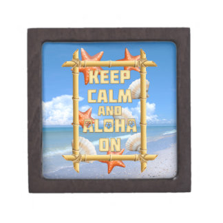 Keep Calm And Aloha On Premium Jewelry Box