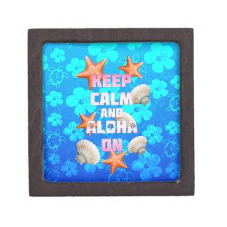Keep Calm And Aloha On Premium Trinket Box
