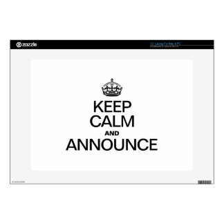 KEEP CALM AND ANNOUNCE DECAL FOR LAPTOP