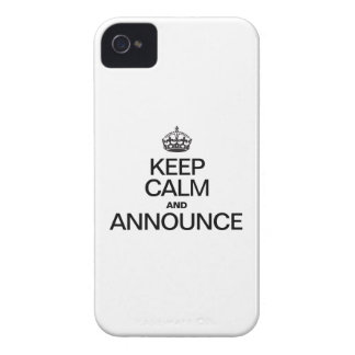 KEEP CALM AND ANNOUNCE iPhone 4 COVER