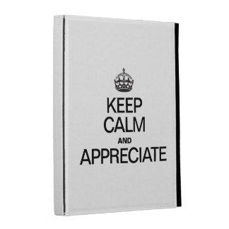 KEEP CALM AND APPRECIATE iPad FOLIO COVER