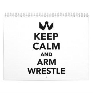 Keep calm and arm wrestle calendar