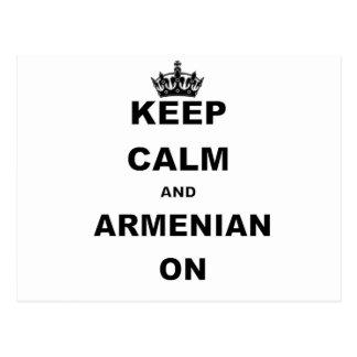 KEEP CALM AND ARMENIAN ON.png Postcard