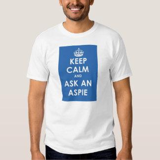 Keep Calm and Ask an Aspie T-shirt