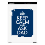 Keep Calm and Ask Dad - all colors iPad 2 Skin