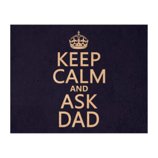 Keep Calm and Ask Dad - all colors Photo Cork Paper