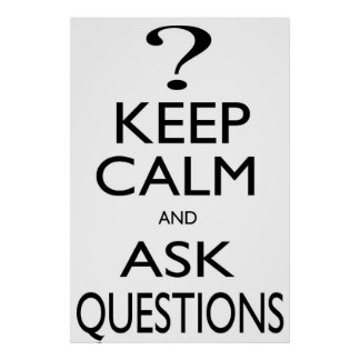 Keep Calm and Ask Questions Poster