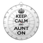 Keep Calm and Aunt On Dart Boards