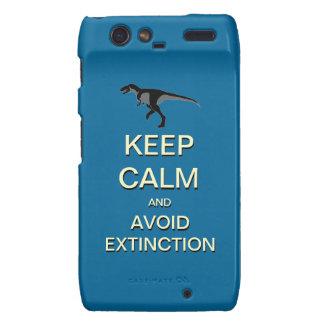 Keep Calm And Avoid Extinction Droid RAZR Case