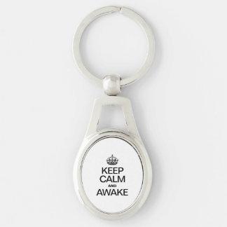KEEP CALM AND AWAKE KEY CHAINS