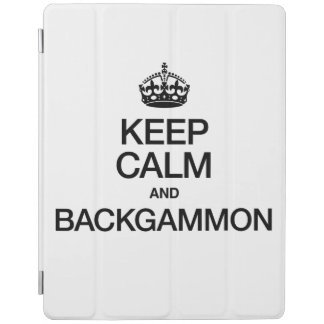 KEEP CALM AND BACKGAMMON iPad COVER