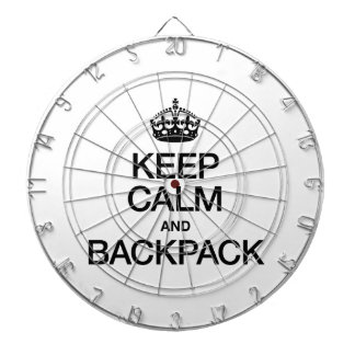 KEEP CALM AND BACKPACK DARTBOARD WITH DARTS