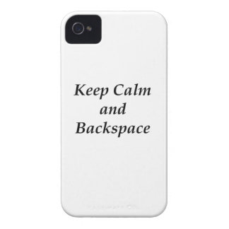 KEEP CALM AND BACKSPACE Case-Mate iPhone 4 CASE