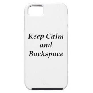 KEEP CALM AND BACKSPACE iPhone SE/5/5s CASE