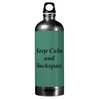 Keep Calm and Backspace Water Bottle