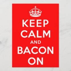 with Keep Calm And Bacon On design