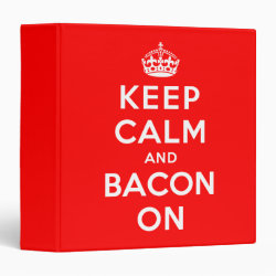 Avery Signature 1' Binder with Keep Calm And Bacon On design