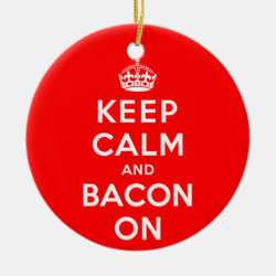 Circle Ornament with Keep Calm And Bacon On design