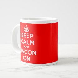 Jumbo Mug with Keep Calm And Bacon On design