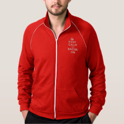 Men's American Apparel California Fleece Track Jacket with Keep Calm And Bacon On design